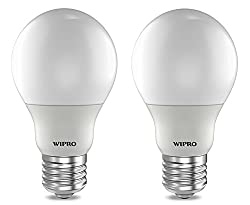 Wipro Garnet N91002 E27 9-Watt LED Bulb (Pack of 2, Warm White/Golden Yellow)