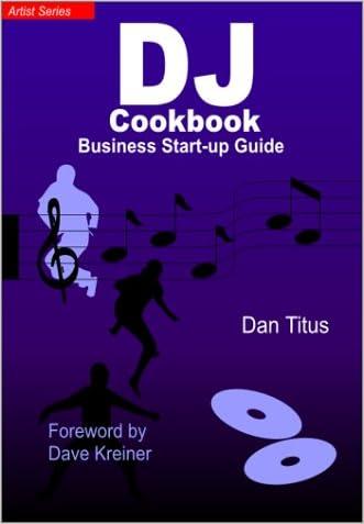The DJ Cookbook: Business Start-Up Guide written by Dan Titus