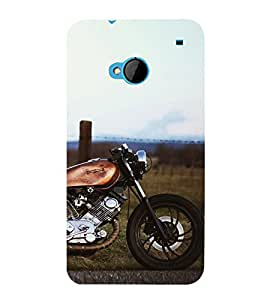 Amazing racing Bike 3D Hard Polycarbonate Designer Back Case Cover for HTC One M7 :: HTC M7