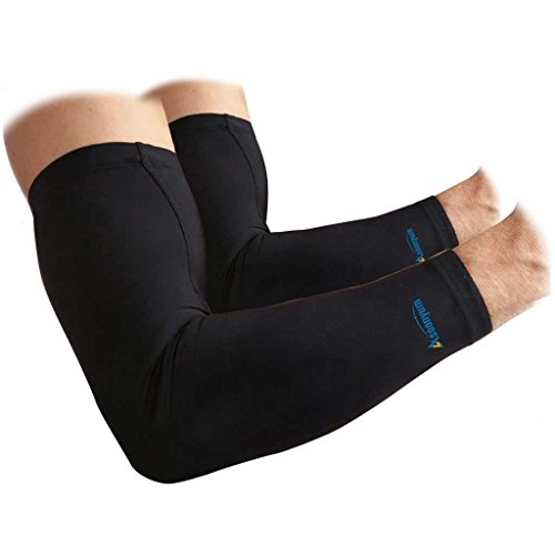 Compression Arm Sleeves - ASOONYUM Sports - Best Arm Support For Men Women Youth Adult - Boosts Circulation Pain Relief Lymphedema UV Sun Protection - Golf Football Cycling Running Basketball - 1 Pair (Superhero Football Gloves Kids compare prices)