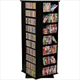 Venture Horizon Home Office Malls Stores Revolving Media Tall CD DVD Storage Rack Tower Grande Black