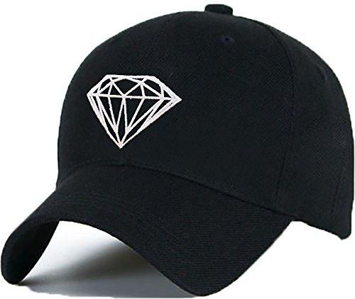 Berretto da Baseball Cap Diamante Cappello SnapBack Berretto Hip-Hop Unisec Uomo Donna ...