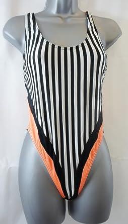 PALMERS Black & White Stripe One Piece / Swim Suit - UK 14/ 36