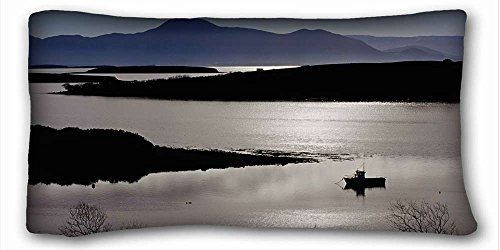 Generic Personalized ( Nature Sea Ocean Ireland bay ) Standard Size Pillowcase for Hair & Facial Beauty Size 20x36 Inches suitable for X-Long Twin-bed PC-Green-25472
