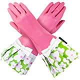 PINK GLOVEABLES, GREEN FLOWER TRIM, WHITE BOW