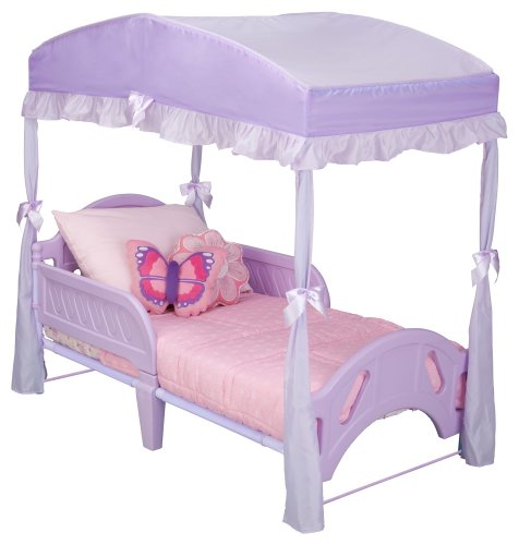 Toddler Canopy Bed : Delta Children Girls Canopy for Toddler Bed, Purple