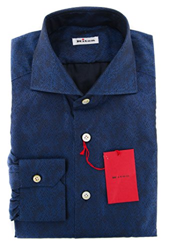 new-kiton-dark-blue-fancy-slim-shirt