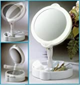 Floxite Home Travel 9X/1X Folding Lighted Cosmetic Mirror