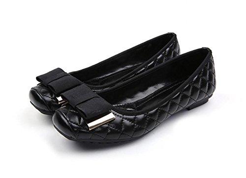 NVXIE Loisirs printemps/été Asakuchi shoes Chaussures femmes/métal/arc/semelle souple