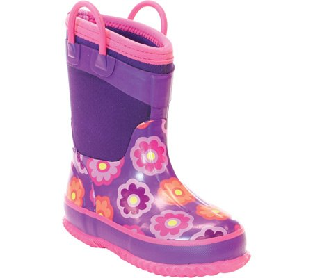 Western Chief Flower Dot Boot (Toddler/Little Kid/Big Kid),Purple,10 M Us Toddler front-1059732