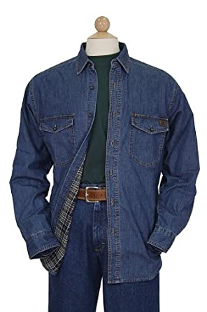 Riggs Workwear By Wrangler Men 39 S Flannel Lined Denim Work