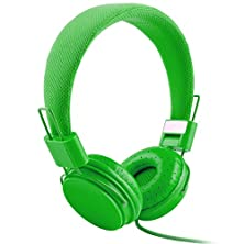 buy Youthcamp Ep05 Adjustable Headband Headphone. Headset With Extremely Soft Ear Pad, Noise Cancelling Earphones High Quality Stereo Sound For Music Equipment Green