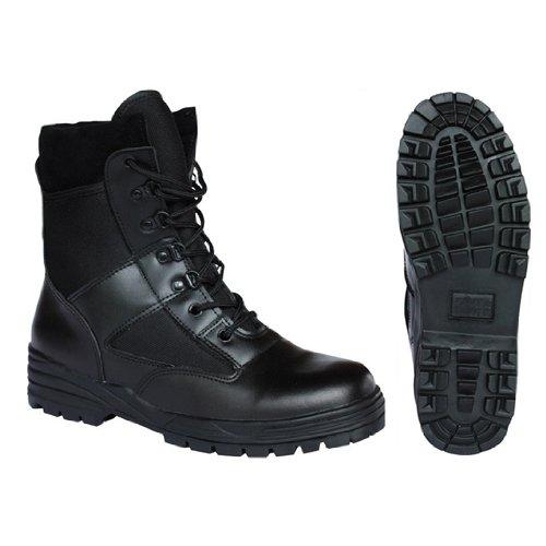 Kombat Britsh Army Style Combat Black Military Patrol Hiking Boot Ta Cadet Work Uk 4-12 - 10 Uk