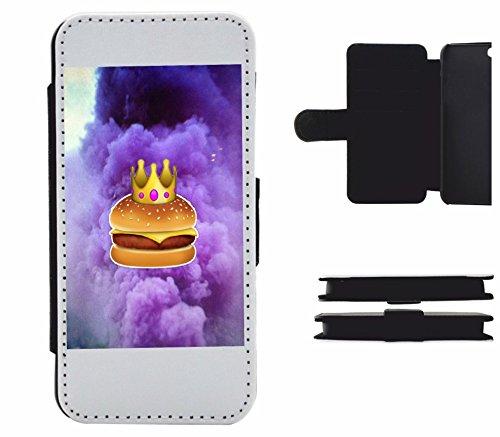 """Cuoio Cases Smartphone Samsung Galaxy S7 edge """"Burger con corona e le nuvole sembra delizioso su"""", probabilmente la più bella di protezione per smartphone di tutti i tempi."""