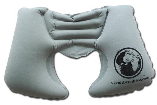 Davidsbeenhere Inflatable Travel Pillow with Cloth Cover