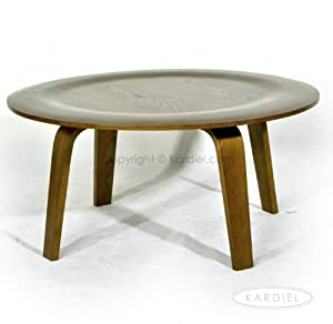 Kardiel Eames Style Plywood Coffee Table, Light Walnut