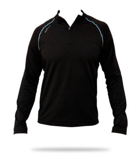 Mens RunBreeze Technical Performance Long Sleeved Half Zip Tee Shirt