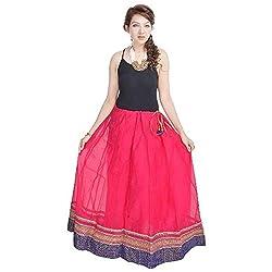 Prateek Retail Rajasthani Ethnic Pink Pure Cotton Skirt