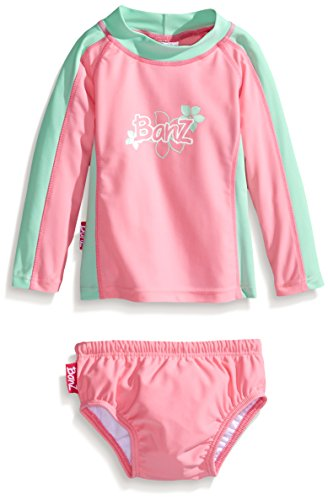 Baby banz baby girls 39 long sleeve rash guard and swim for Baby rash guard shirt