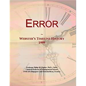 Error: Webster's Timeline History, 2002 - 2003 Icon Group International