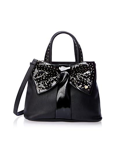 Betsey Johnson Women's Bow Tie Shopper, Black