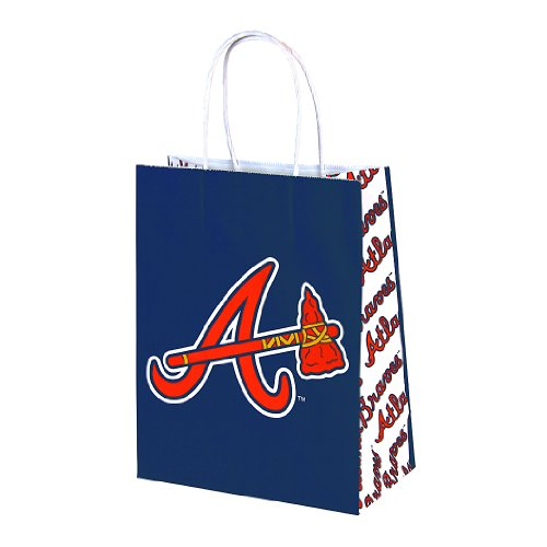 "Berwick MLB Atlanta Braves Paper Handle Gift Bag, 7.75"" Wide by 9.75"" High by 4"" Deep"
