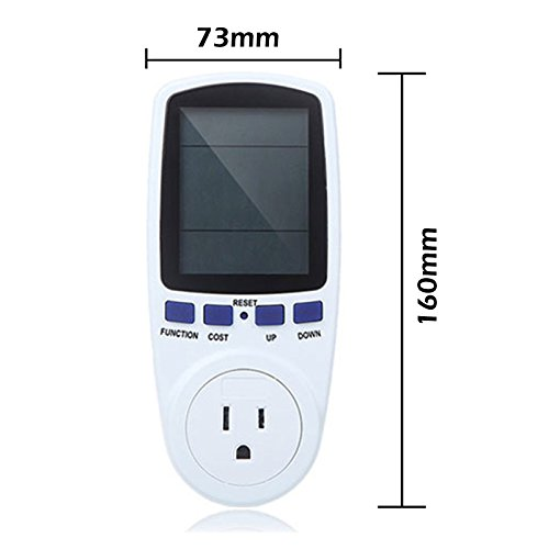 Lemonbest™ Digital Power Meter Plug Multifunctional Ammeter Energy Watt Voltage Amps Meter With Electricity Usage Monitor