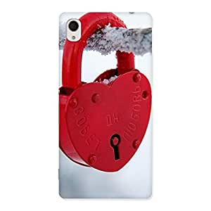 Impressive Red Lock Multicolor Back Case Cover for Sony Xperia M4