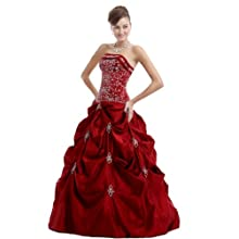Women's Formal Prom Dress , Burgundy ,Size|L