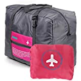 Generic Waterproof Capacity Folding Travel Bag, Large, Rose