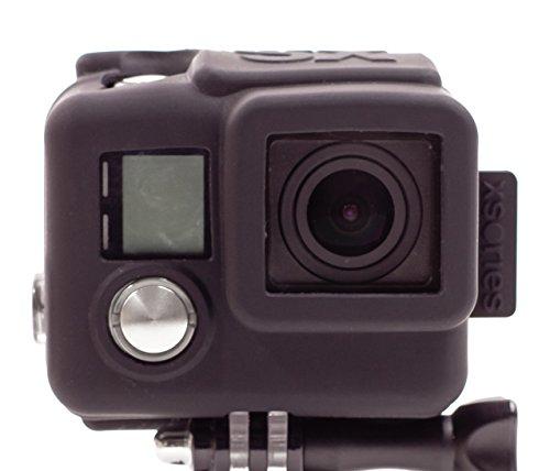 Xsories-Housse Silicone pour Caméra GoPro HD4 Noir