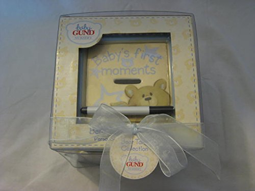 Gund Bear Tales Collection Personalize Keepsake Bank Yellow With Blue Trim front-780290