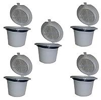 Reusable Refillable Capsules Pod for Nespresso Coffee Espresso Tea Maker - 5 pack
