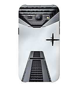 EPICCASE Flying between Scrapers Mobile Back Case Cover For Samsung J1 Ace (Designer Case)