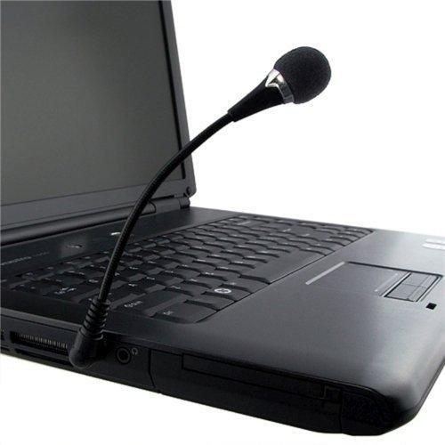 New Mini 3.5Mm Flexible Microphone For Pc(Black)