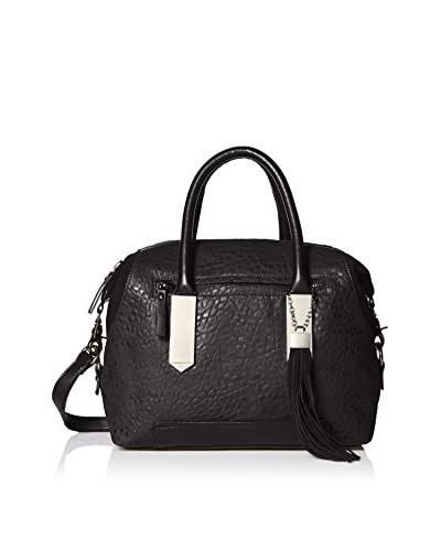 French Connection Women's Camden Satchel, Black/Black