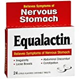 Equalactin Relieves Symptoms Of Nervous Stomach Chewable Tablets - 24 Ea, Pack of 5