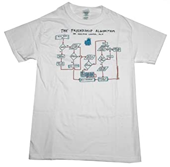 THE BIG BANG THEORY -- THE FRIENDSHIP ALGORITHM -- MENS TEE (White/Small)