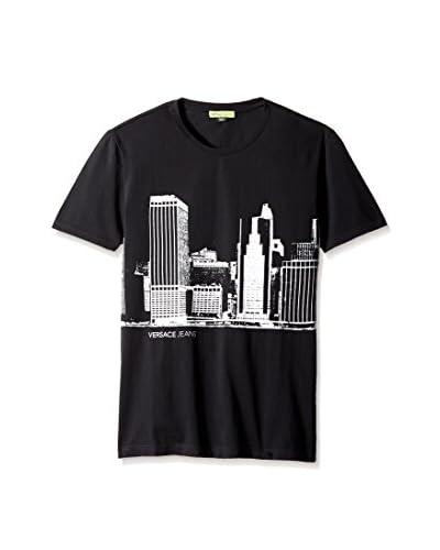 Versace Jeans Men's Skyline Print T-Shirt