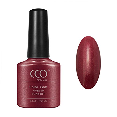 CCO Soak Off UV LED Color Gel Polish Nail Art Manicure 7.3ML Red Baroness 40509 (Shellac Nail Polish Red Baroness compare prices)