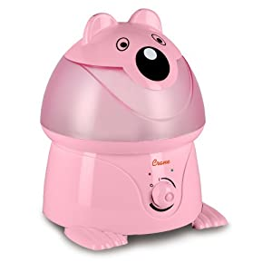 Crane Adorable Ultrasonic Cool Mist Humidifier with 2.1 Gallon Output per Day - Pink Panda