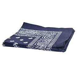 Paisley Cotton Bandanas NAVY