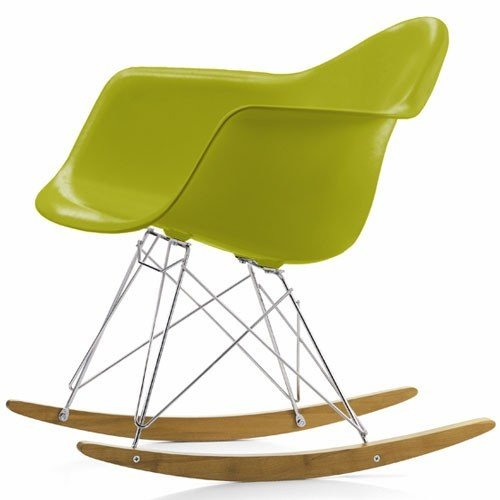 Green Eames Style RAR Rocking Lounge Retro Rocker Chair