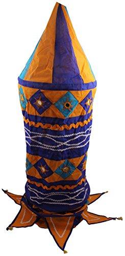Rose Applique Cotton Kalasa Lantern (45 Cm X 45 Cm X 150 Cm)