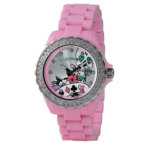 Ed Hardy Roxxy Light Pink Silver Dial Women's watch #RX-LP