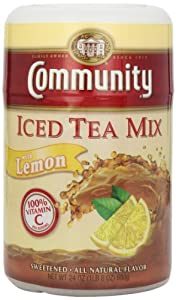 Community Coffee Lemon and Sugar Tea Mix, 24-Ounce (Pack of 6)