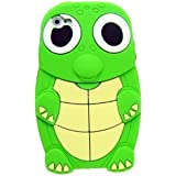 Turtle Dinosaur Silicone 3D Case Cover for iPhone 4/4S - Green