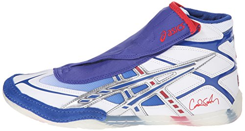 Cael Sanderson Wrestling Shoes Red White And Blue