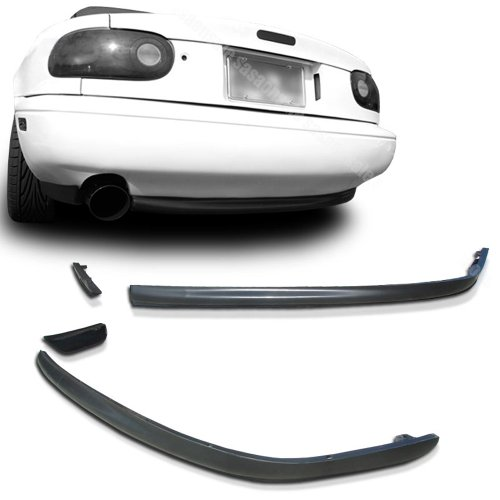NEW - 90-97 MAZDA MIATA MX-5 RS Style PU Rear Bumper Lip (Miata Side Skirts compare prices)
