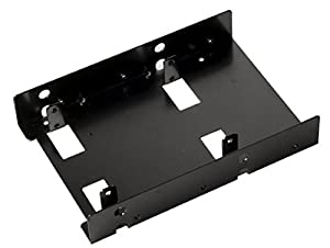 Silverstone Tek 3.5-Inch to 2 X 2.5-Inch Internal Hard Drive HDD / SSD Bay Converter, Black (SDP08B)